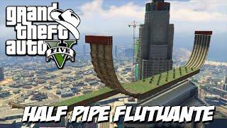 GTA 5 Online (PS4) - Corrida HALF PIPE no céu: Manobras insanas de moto !