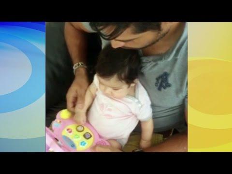 ¡Talento musical! Mira cómo Baby Giulietta canta con papá