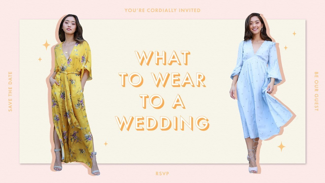 What to Wear to a Wedding 2