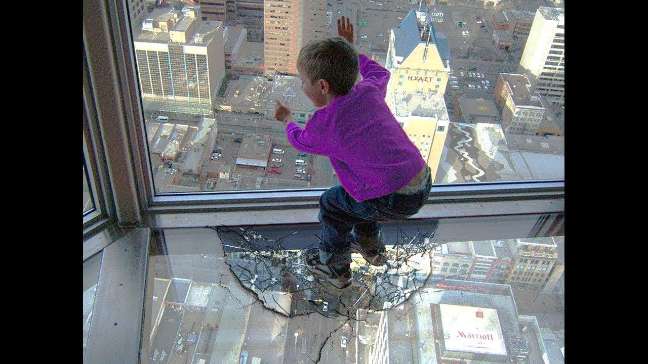he broke the polar bear's glass...