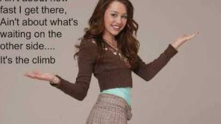 Miley cyrus -  the climb instrumental with lyrics on screen and download link in description
