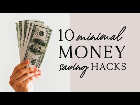 10 MINIMALIST MONEY SAVING HACKS 💸 | minimalism & saving money