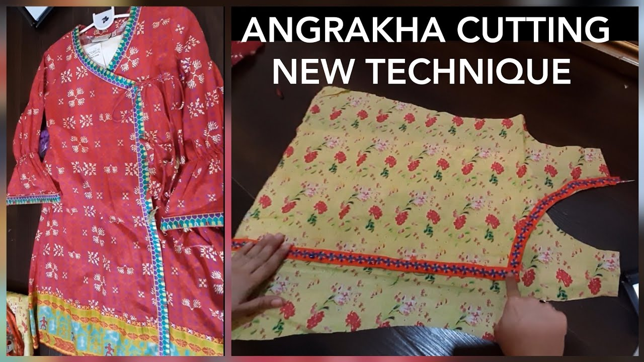 3 To 5 Year Girl Angrakha Kurti Cutting With Full measurement