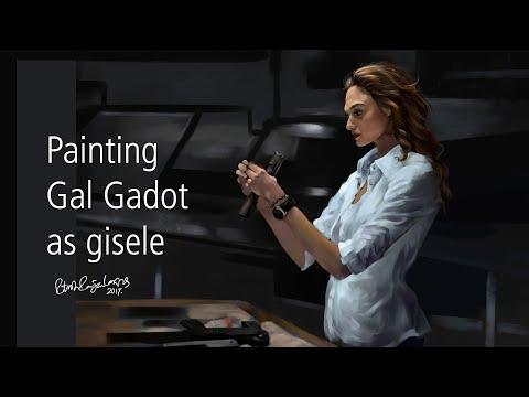 Gal Gadot Realistic Painting iN Krita | Time Lapse Painting Of Gal Gadot As Gisele Yashar |