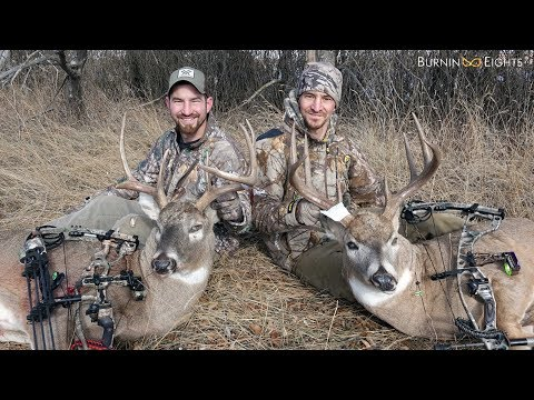 EPIC North Dakota Bow Hunt - Two Public Land Bucks Harvested Within Minutes!