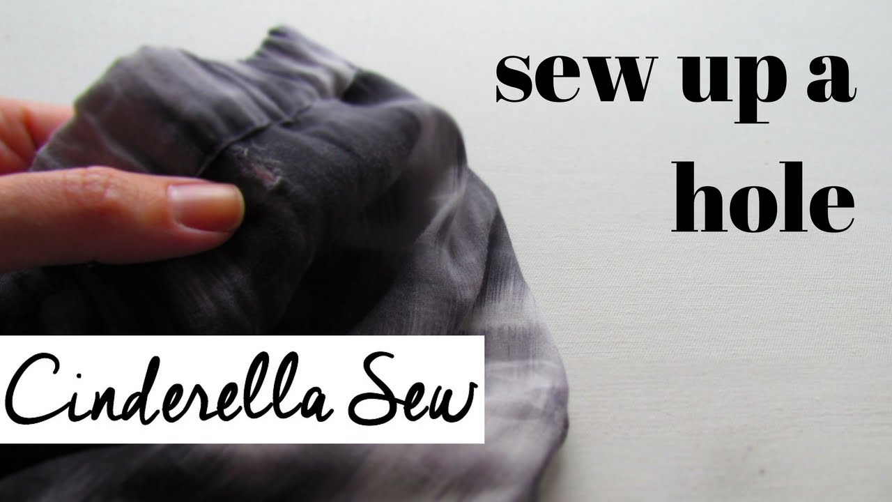 how to make a hole in fabric