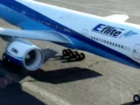 E-flite Super Airliner 777 DF ARF Electric RC Plane Eflite Airliner