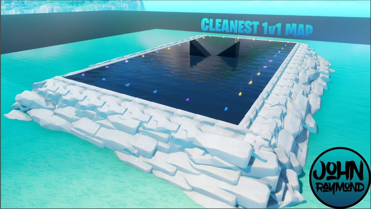 ICEBERG FORTNITE CREATIVE 1V1 MAP TUTORIAL ~WATER CREATIVE ...