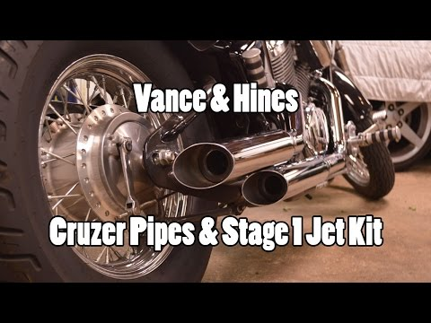 How-To: Install V&H Cruzer Pipes & Jet Kit Shadow 600 VLX 97-07