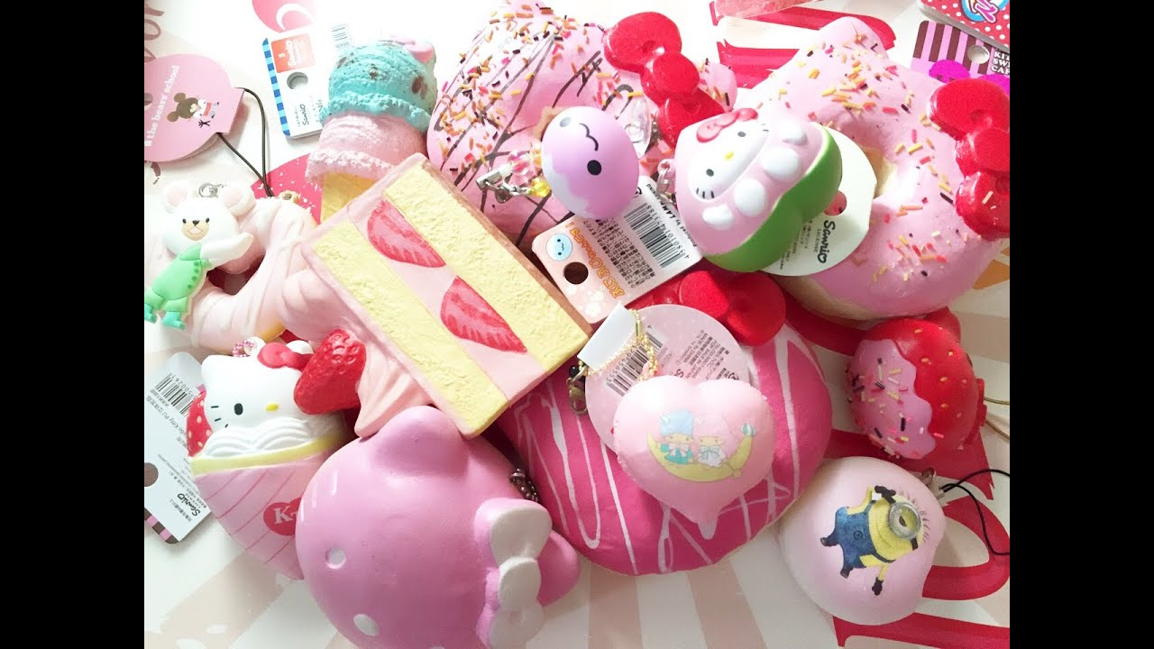 My Squishy Collection 2015 : Pink Squishy Collection NineyCrafts - YouTube