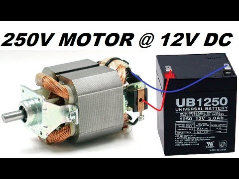 Run a High Torque Mixer/Drill Motor at 12V without any Circuit : Step By Step