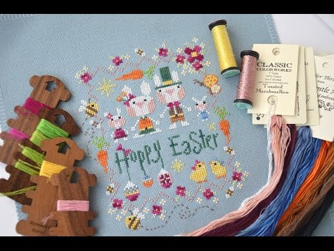 73 Пасхальные зайцы от Barbara Ana и другие пасхальные вышивки