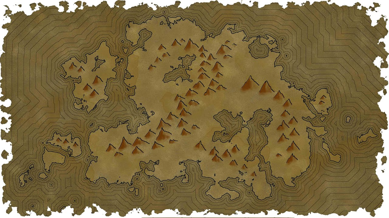how to draw mountains on 2d map
