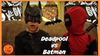 Kid Deadpool vs Batman in Real Life Halloween Costumes | New Little Superheroes | SuperHero Kids