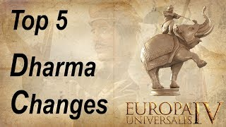 Top 5 Changes in Dharma for Europa Universalis 4