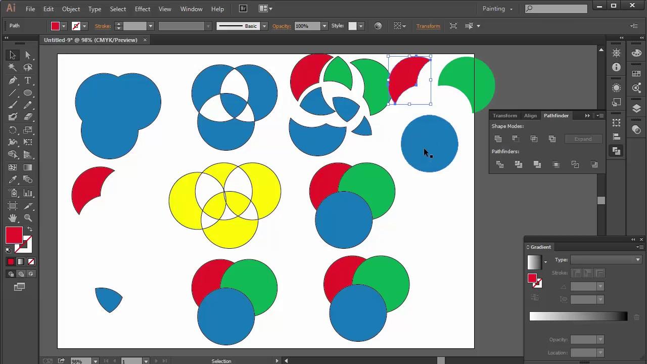Bài 7. Hướng dẫn sử dụng Palette Pathfinder hữu ích trong Adobe Illustrator