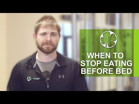 Omaha Fitness: When to Stop Eating Before Bed