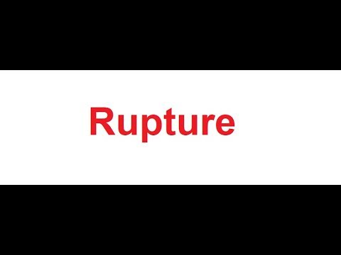 Rupture meaning in Hindi