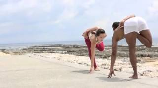 Transition -Standing Half lotus to toe stand