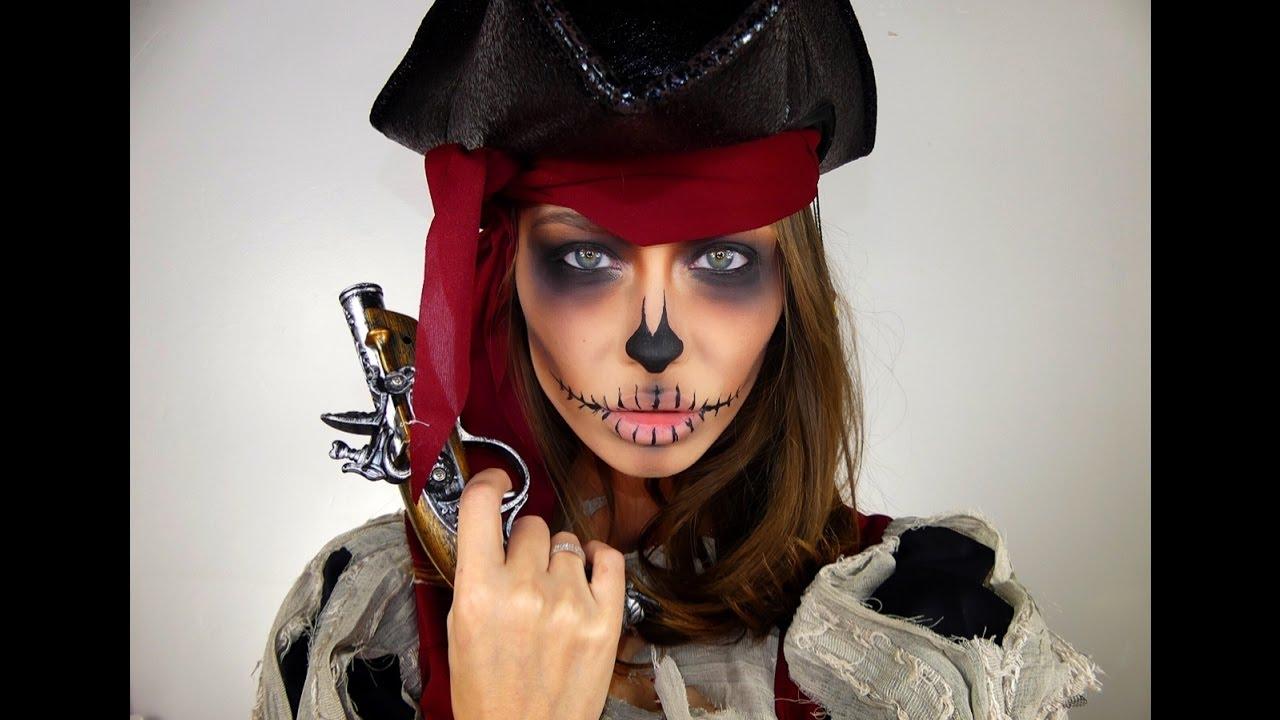 Макияж Пирата На Хеллоуин / Halloween Pirate Make Up - YouTube