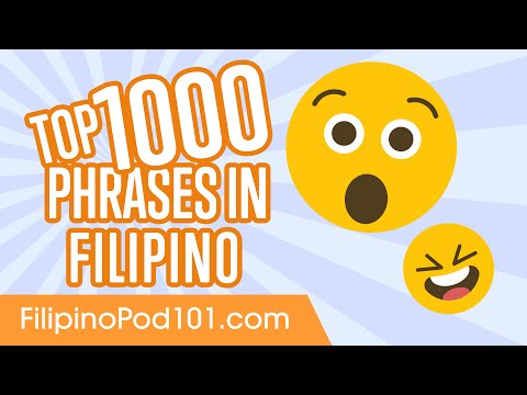 Top 1000 Most Useful Phrases in Filipino