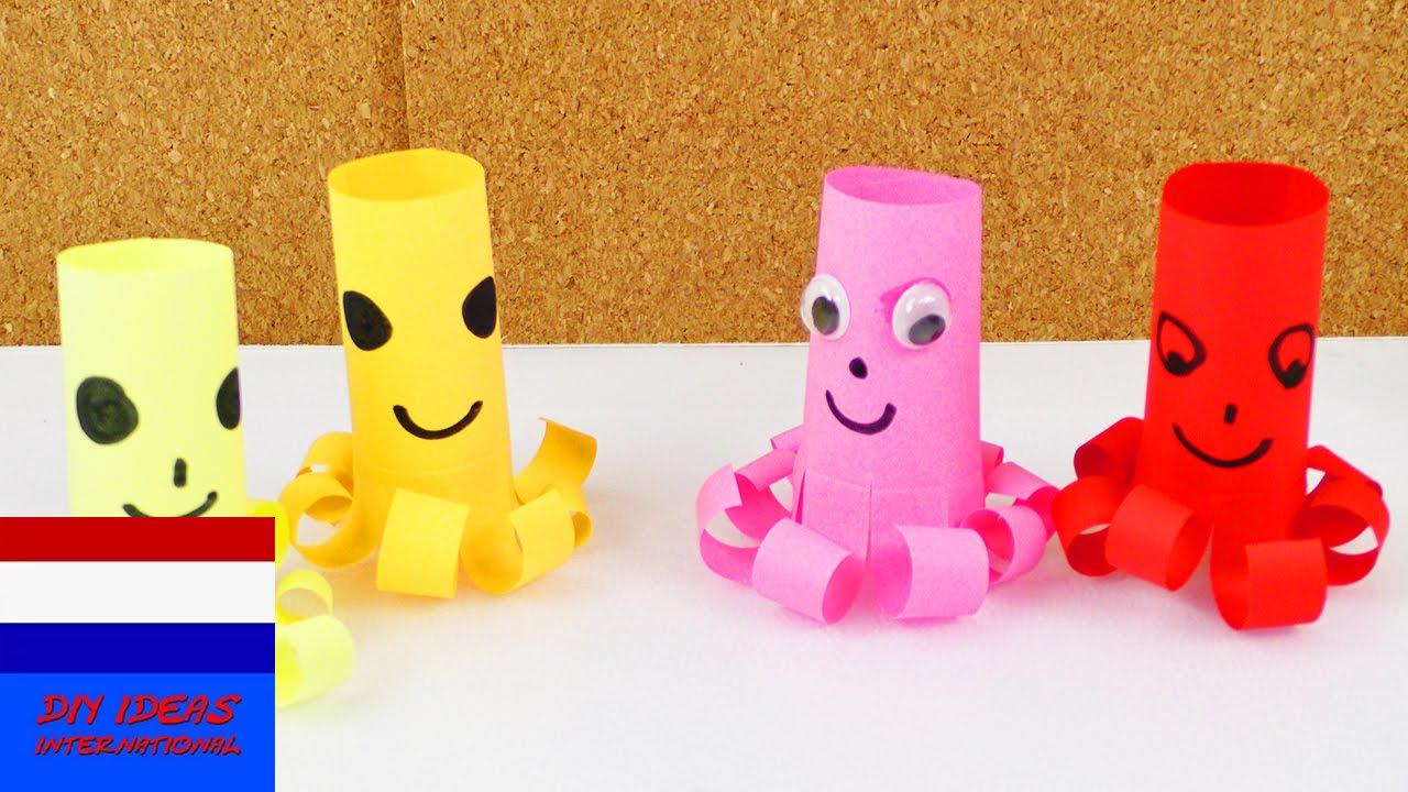 Favoriete octopus knutselen | zelf eenvoudige octopus maken | knippen  &AJ38