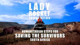 Lady Rocket Bitcoin 2021 NFTs. Saving Rhinos with Saving the Survivors