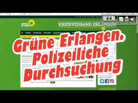 Machen Grüne Erlangen Jagd auf politische Gegner? Polizeiliche Durchsuchung