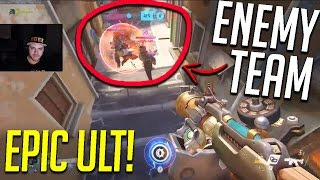 """""""I'M GOING TO MAKE A HUGE PLAY!"""" INSANE QUINTIPLE KILL! -Overwatch Epic/PRO Moments!"""