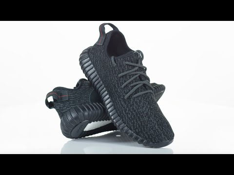 2fd8a3b9c Sneakers In 4K: adidas Yeezy Boost 350 Pirate Black (Video) •  KicksOnFire.com