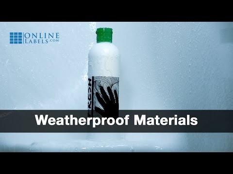 Weatherproof Labels on a Shampoo Bottle in the Shower