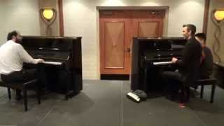 Maple Leaf Rag in 12 keys and 4 time signatures, 2 pianos