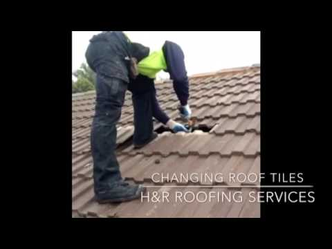 Changing broken roof tiles