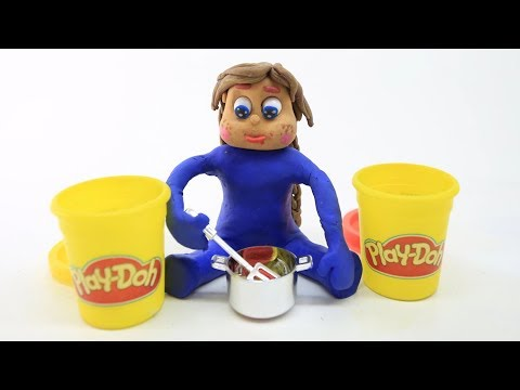 PLAY DOH COLOR-MIX! In Blue Princess Baby Superhero - Stop-Motion Cartoons for Kids