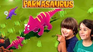 PARKASAURUS 😝 EL PARQUE DE DINOSAURIOS de DANI y EVAN - Juegos para niños