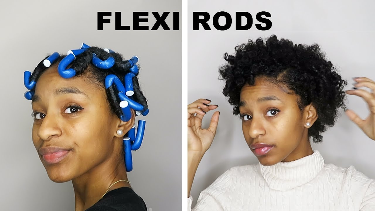 Flexi Rods On Short Natural Hair Using Palmer S New Natural Fusions Style Hold Youtube