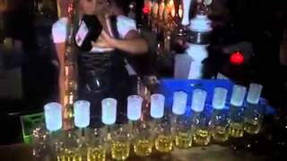Jagerbombs Trick At Heidi's Bier Bar