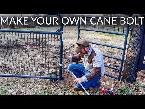 Make Your Own Cane Bolt Farm Gate Anchor