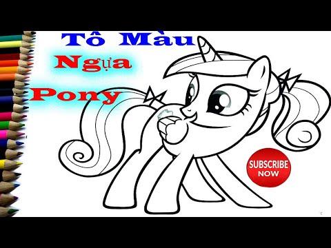 Tô Màu Tranh My Little Pony - Tô Màu Con Ngựa PONY Dễ Thương - Bé Tô Màu - Unicorn Halaman Mewarnai
