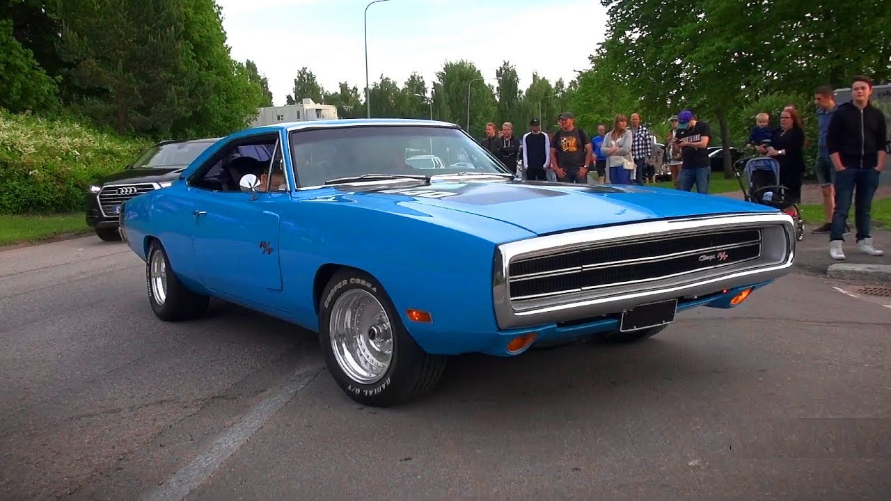 Baby Blue 1970 Dodge Charger R T 440 Powerslide And V8