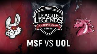 MSF vs. UOL  - Week 5 Day 1   EU LCS Spring Split   Misfits Gaming vs. Unicorns of Love (2018)