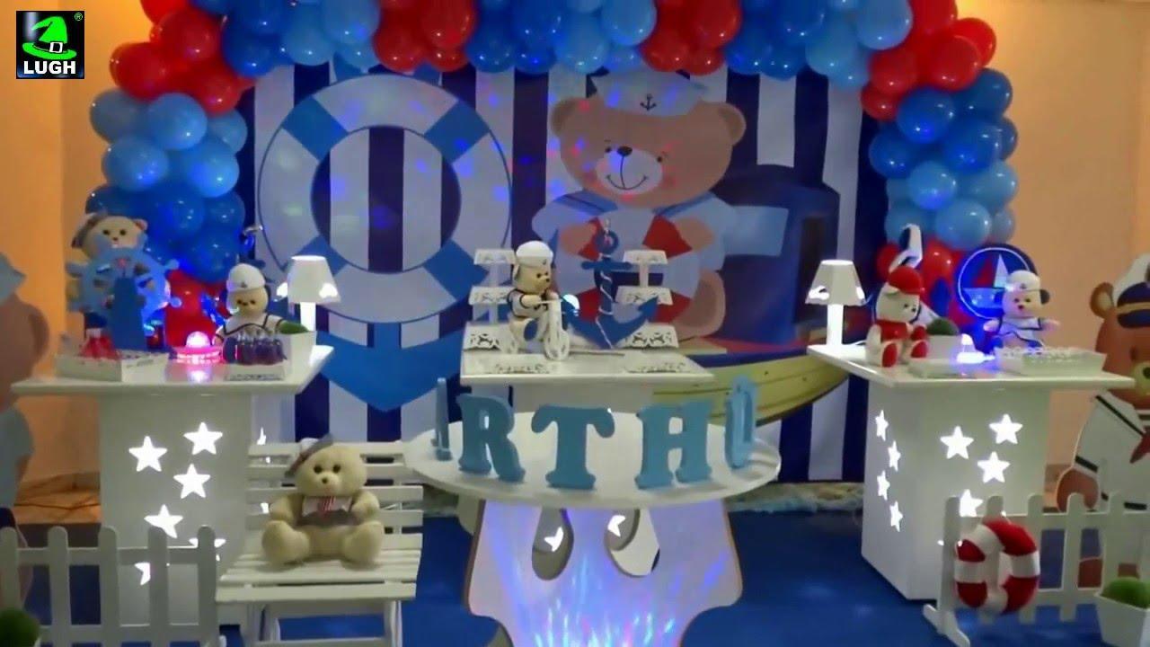 Ursinho Marinheiro Decoraç u00e3o para festa de aniversário infantil YouTube