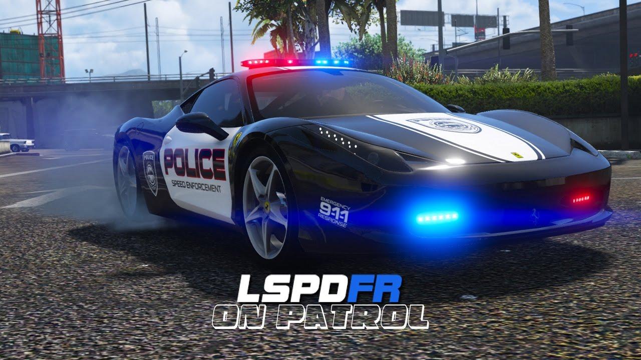 Lspdfr Day 369 Ferrari Police Car Youtube