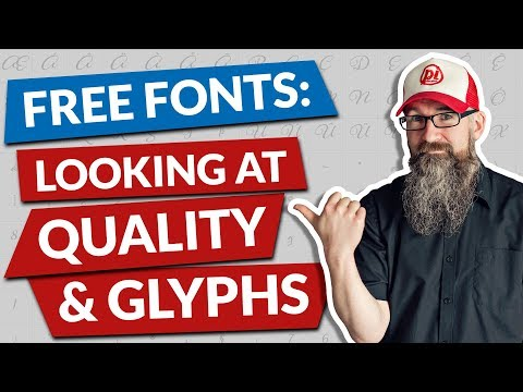 Free Fonts   Looking At Quality And Glyphs