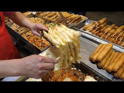 37년 경력, 어묵 최강달인의 놀라운 수제어묵 만들기 - 안양중앙시장 / Amazing Skill of Fish Cake Master - Korean street food