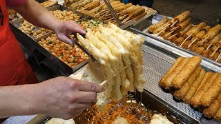 Amazing Skill of Fish Cake Master - Korean street food