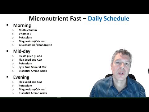 Long-Term Micronutrient Fasting -  What I Took And When