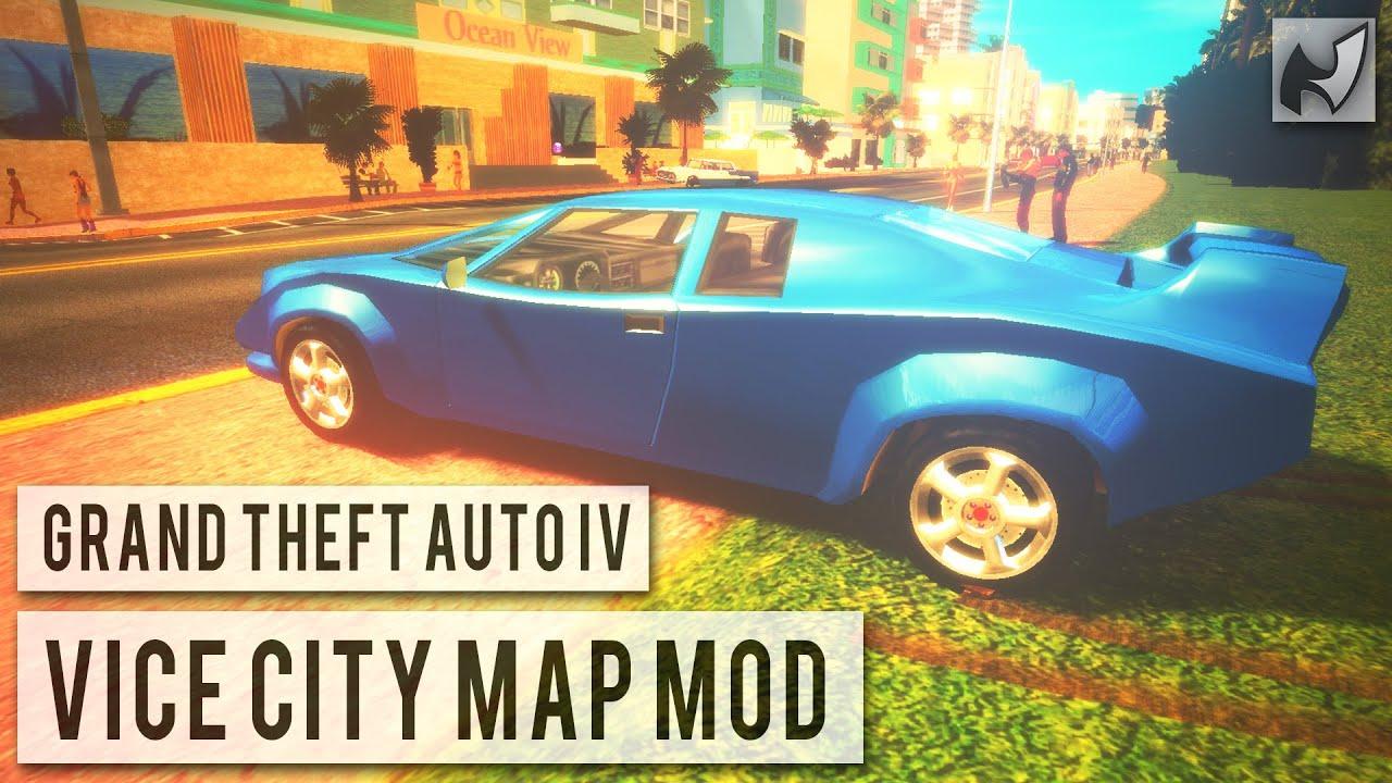 GTA IV  Vice City Map Mod Updated  YouTube