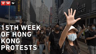 Hong Kong protests have continued for the 15th consecutive weekend ahead of China's 70th anniversary of the founding of the People's Republic of China.