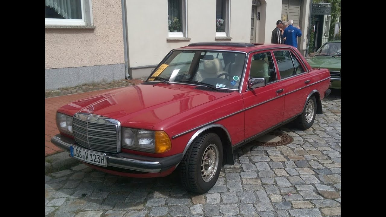 Mercedes Benz W123 Oldtimer Classic Car Year Of Manufacture 1984